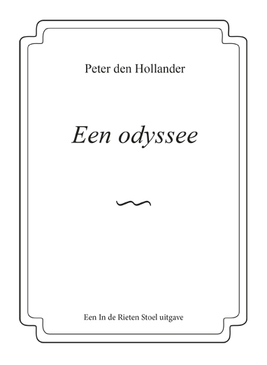 Cover Een odyssee