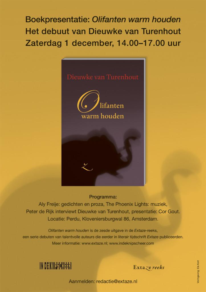 poster Olifanten warm houden, Dieuwke van Turenhout